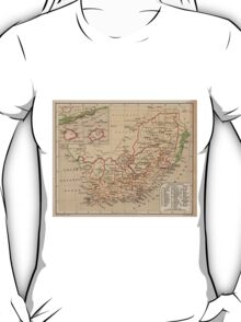 Vintage Map of South Africa (1880) T-Shirt