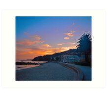 Sunset in Ezaro Art Print