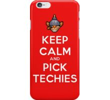 Keep Calm and Pick Techies iPhone Case/Skin