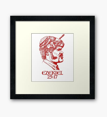 Ezekiel 25:17 The Path of the Righteous Man Framed Print