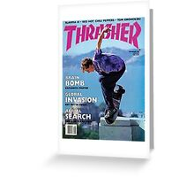 Thrasher Old School Magazine Cover 1 Greeting Card
