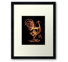 Chinese Zodiac Year of The Fire Rooster Framed Print