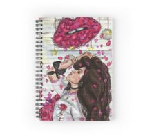 BAD THINGS LIPS Spiral Notebook