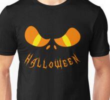 Scary Halloween Monster Face Orange Unisex T-Shirt