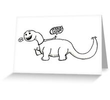 Me Riding a Dinosaur! Greeting Card