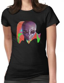 Alien Head Melt Womens Fitted T-Shirt