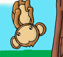 Monkeying Around Sticker