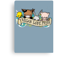 Vegan Love Pride Canvas Print