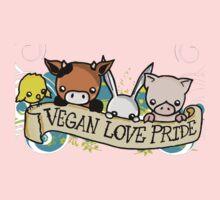 Vegan Love Pride One Piece - Short Sleeve