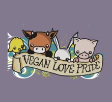 Vegan Love Pride Kids Tee