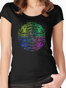 Vibrant Orb Women's Fitted Scoop T-Shirt