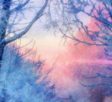 Winter evening Sticker