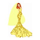 Fashion -yellow lace gown (8304 Views) by aldona