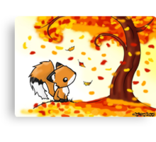 Fox in the Fall Canvas Print