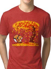 Fox in the Fall Tri-blend T-Shirt