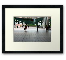 Subway entrance, Kowloon Park Framed Print