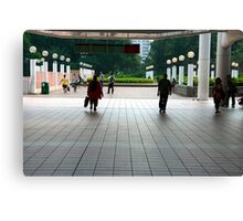 Subway entrance, Kowloon Park Canvas Print