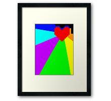 Pacifist Heart Framed Print