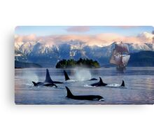 Sail With Sea Wolfs Canvas Print