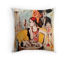 She's got oil ( The Mad Cowboy Disease )  Throw Pillow