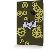 SteamPunk Bat Greeting Card