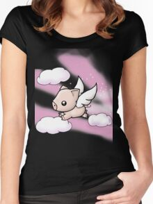 When Pigs Fly Women's Fitted Scoop T-Shirt