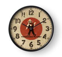 Forbidden Planet retro clock Clock