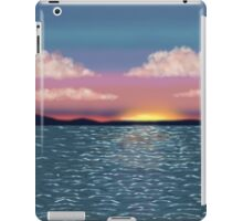 Tranquil Ocean Sunset Print, Poster, Throw Pillow, iPhone Case, Samsung Case, iPad Case, Tote Bag iPad Case/Skin