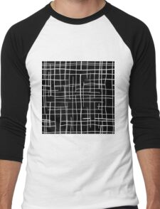 Modern black & white Men's Baseball ¾ T-Shirt