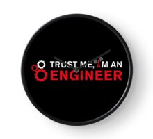 Trust Me I'm an Engineer and gears (for black) Clock