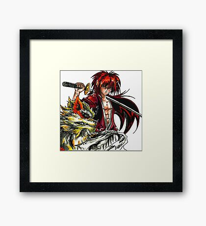 Kenshin with Arcanine  Framed Print