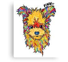 Finn the Rescue Dog Canvas Print