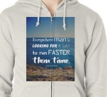 The challenge against time Zipped Hoodie