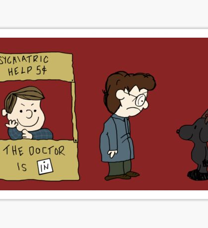 THE DOCTOR IS IN - Hannibal & Peanuts Crossover Art Sticker