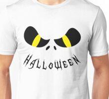 Scary Halloween Monster Face Black Unisex T-Shirt