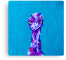 Emu Turquoise Canvas Print