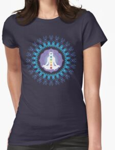 Young woman practicing meditation 10 Womens Fitted T-Shirt