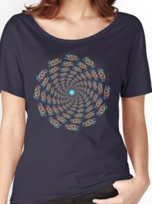 Psychedelic eyes mandala 15 Women's Relaxed Fit T-Shirt