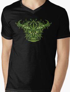 Marijuana demon face Mens V-Neck T-Shirt