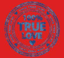 100% True Love Pink St. Valentine's Day Stamp One Piece - Short Sleeve