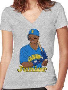 Ken Griffey Junior Women's Fitted V-Neck T-Shirt