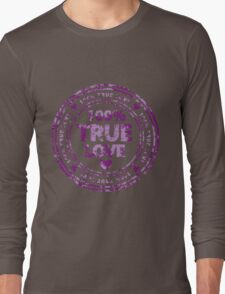 100% True Love Pink St. Valentine's Day Stamp Long Sleeve T-Shirt