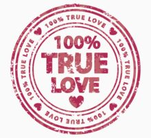 100% True Love Pink St. Valentine's Day Stamp Kids Clothes