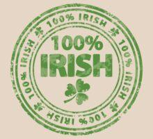 100% Irish St. Patric's Day Stamp T-Shirt