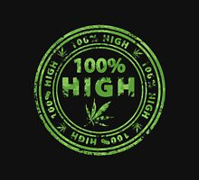 100% High Marijuana Stamp Unisex T-Shirt