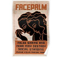 Facepalm (Late 20's) Poster