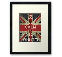 keep calm Ianto Framed Print