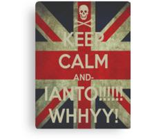 keep calm Ianto Canvas Print