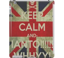 keep calm Ianto iPad Case/Skin