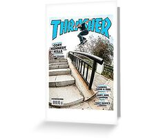 Old School Trasher Magazine Cover 2 Greeting Card